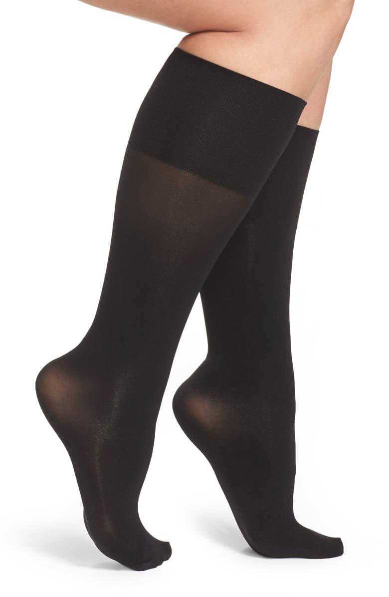BERKSHIRE Compression Knee High Socks, Main, color, 001