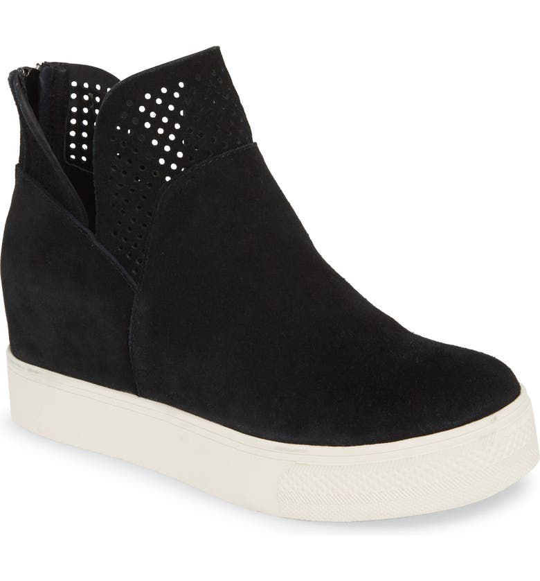 Winnie Sneaker Bootie, Main, color, BLACK SUEDE