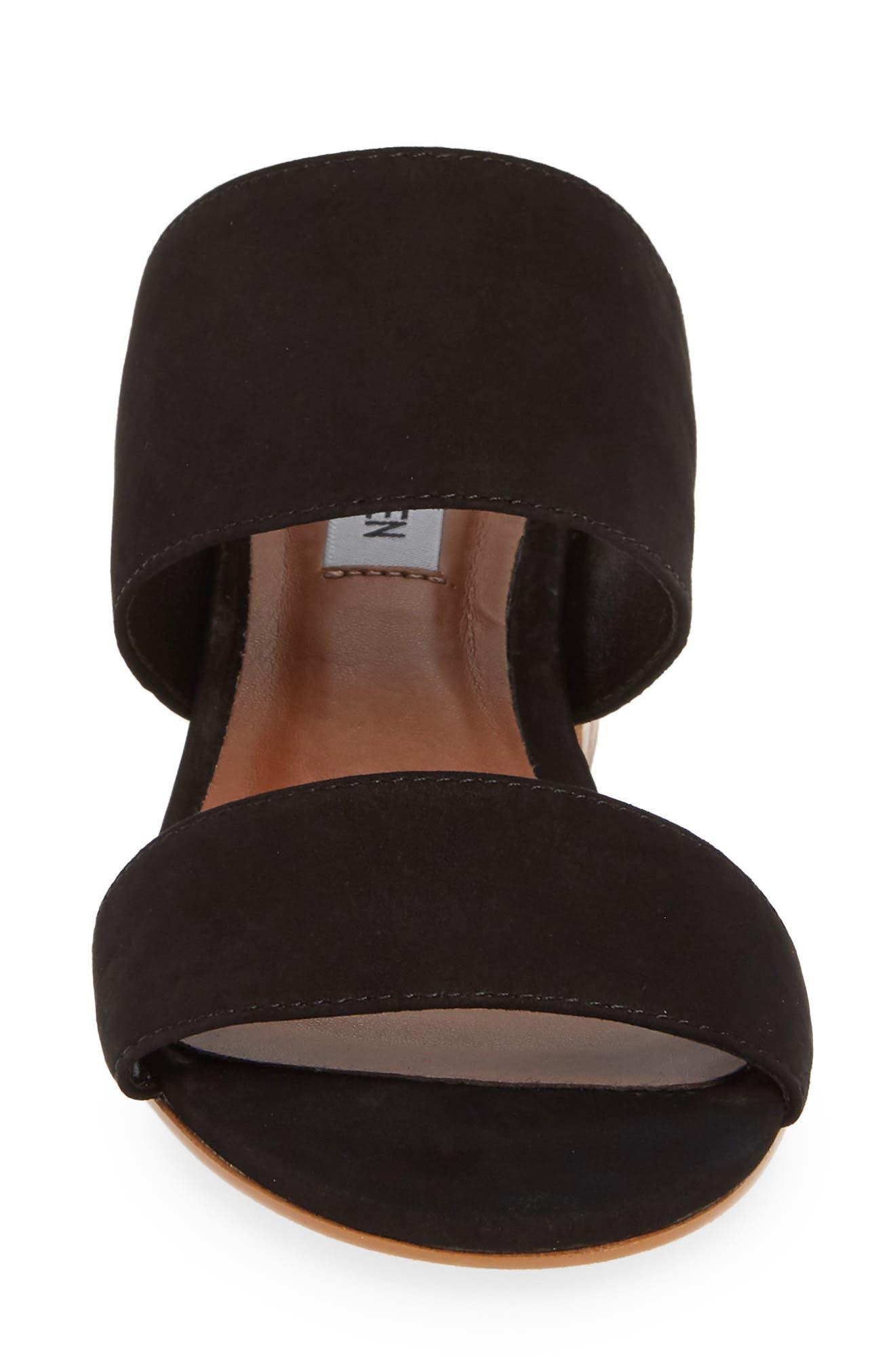 ,                             Ilena Block Heel Slide Sandal,                             Alternate thumbnail 5, color,                             BLACK