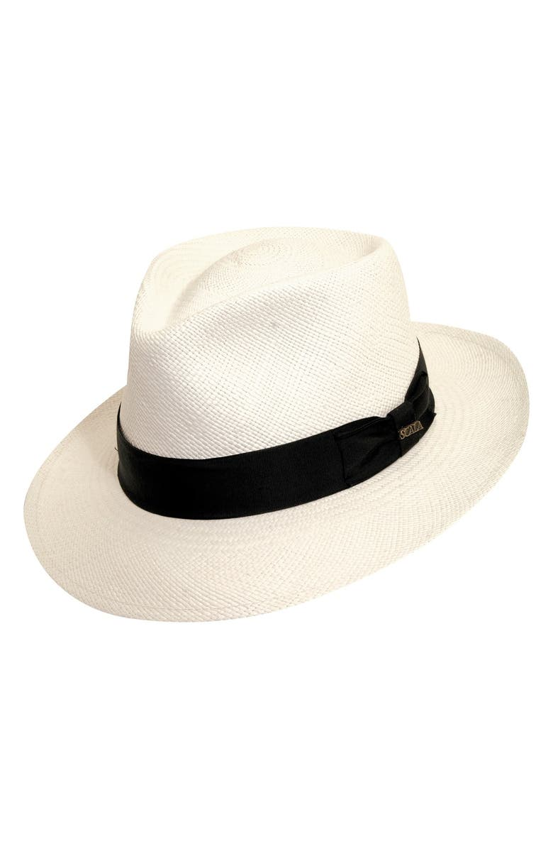 SCALA Straw Panama Hat, Main, color, BLEACH