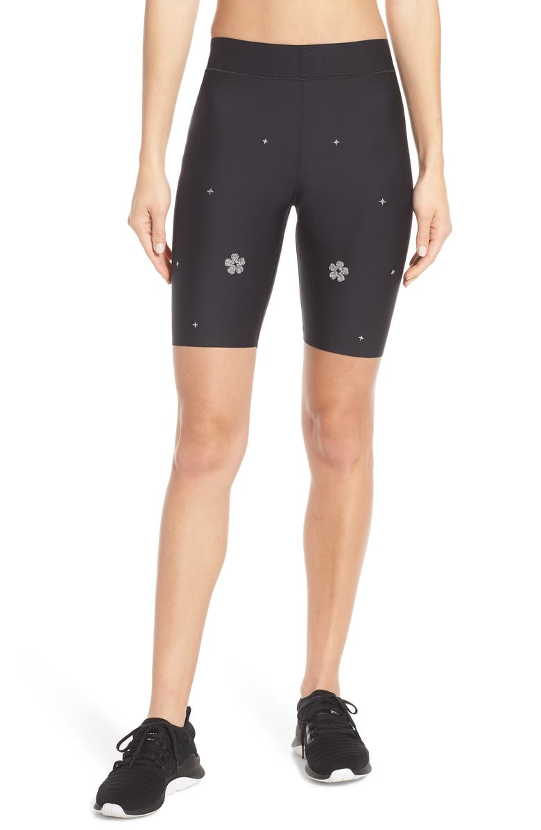 ULTRACOR Aero Starflower Swarovski Bike Shorts, Main, color, 001