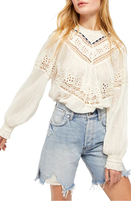 Image of Free People Abigail Victorian Eyelet Lace Blouse