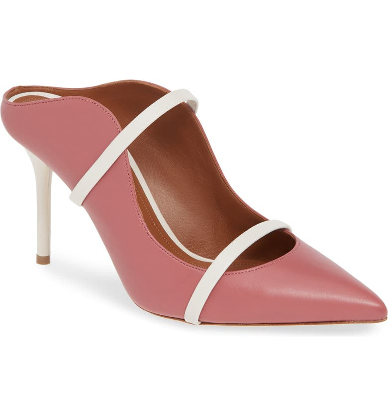 MALONE SOULIERS Maureen Double Band Mule, Main, color, ROSE/ CREAM