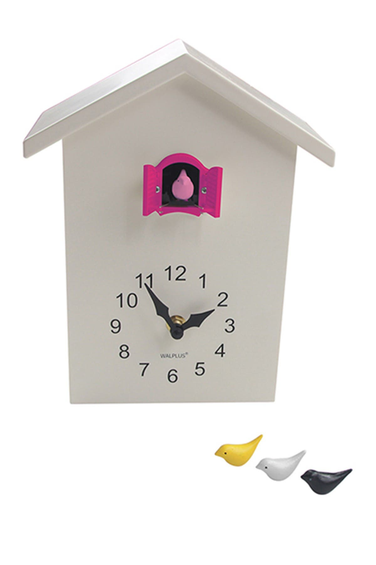 Image of WalPlus Pink/White Minimalist Cuckoo Clock