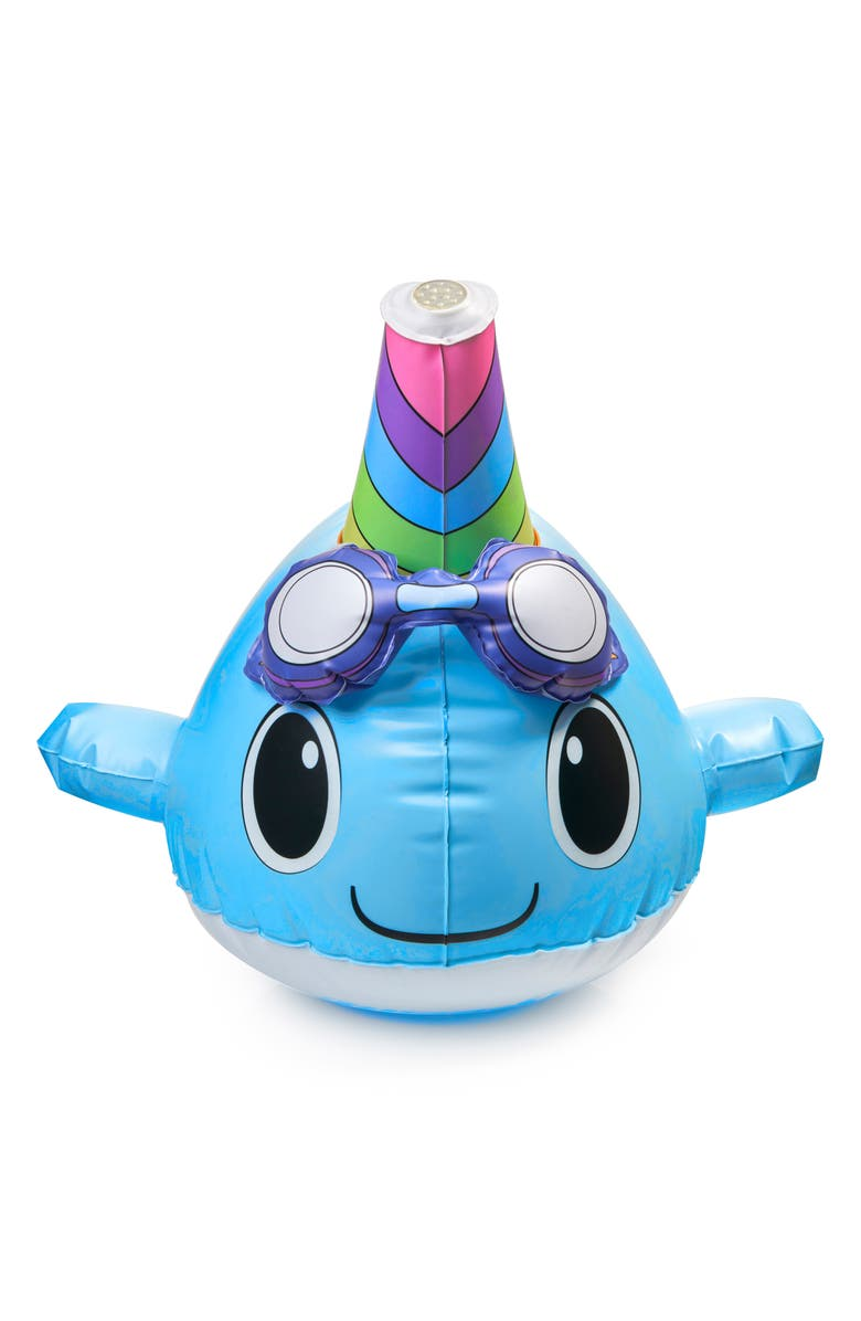 BLING2O Wally the Narwhal Inflatable Sprinkler, Main, color, 400