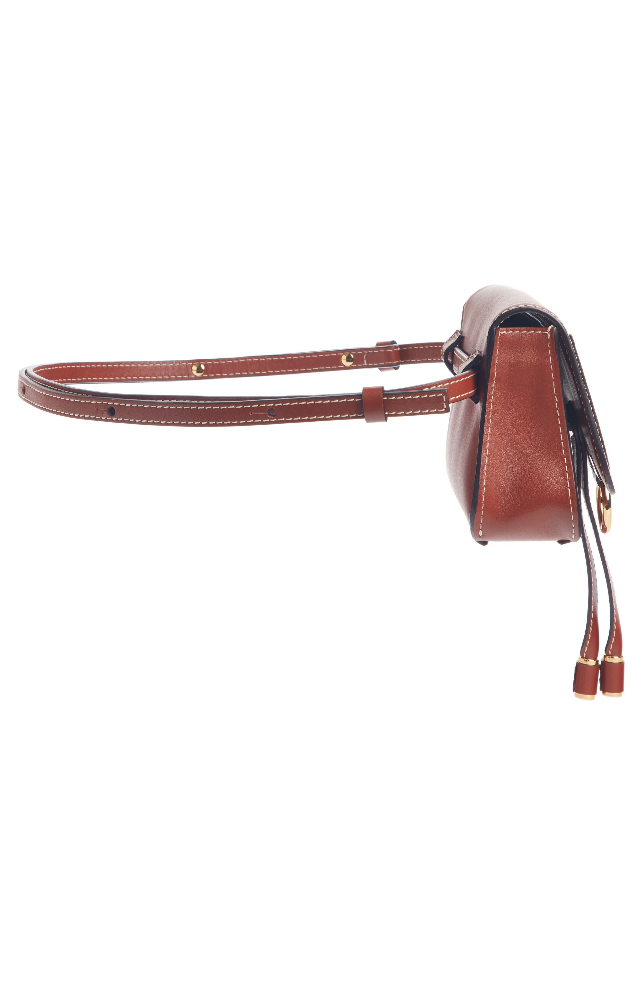 ,                             Marcie Convertible Belt Bag,                             Alternate thumbnail 3, color,                             BROWN/ BROWN