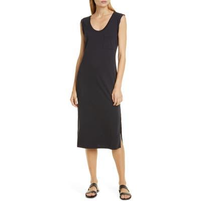 Theory Muscle Tee Pima Cotton Tank Dress, Blue