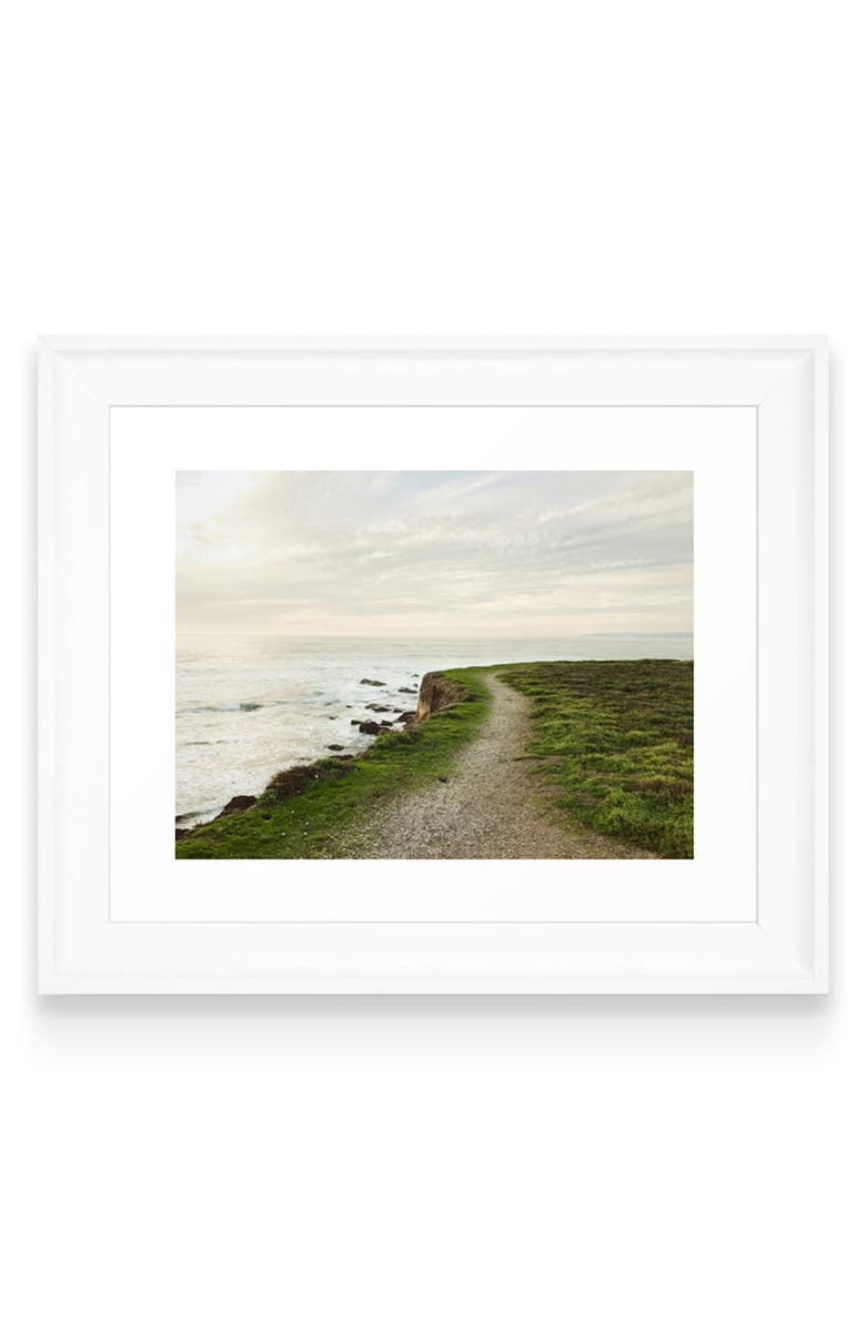 DENY DESIGNS California Coast Art Print, Main, color, WHITE FRAME- 8X10