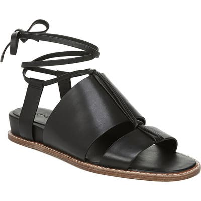 Vince Forster Strappy Ankle Wrap Sandal- Black
