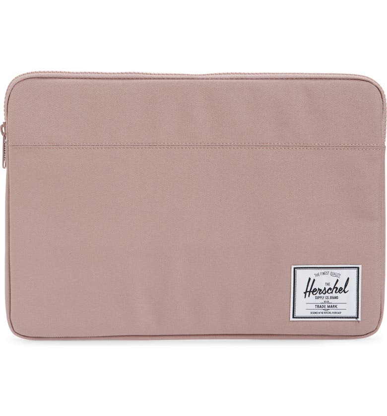 HERSCHEL SUPPLY CO. Anchor 15-Inch MacBook Sleeve, Main, color, ASH ROSE