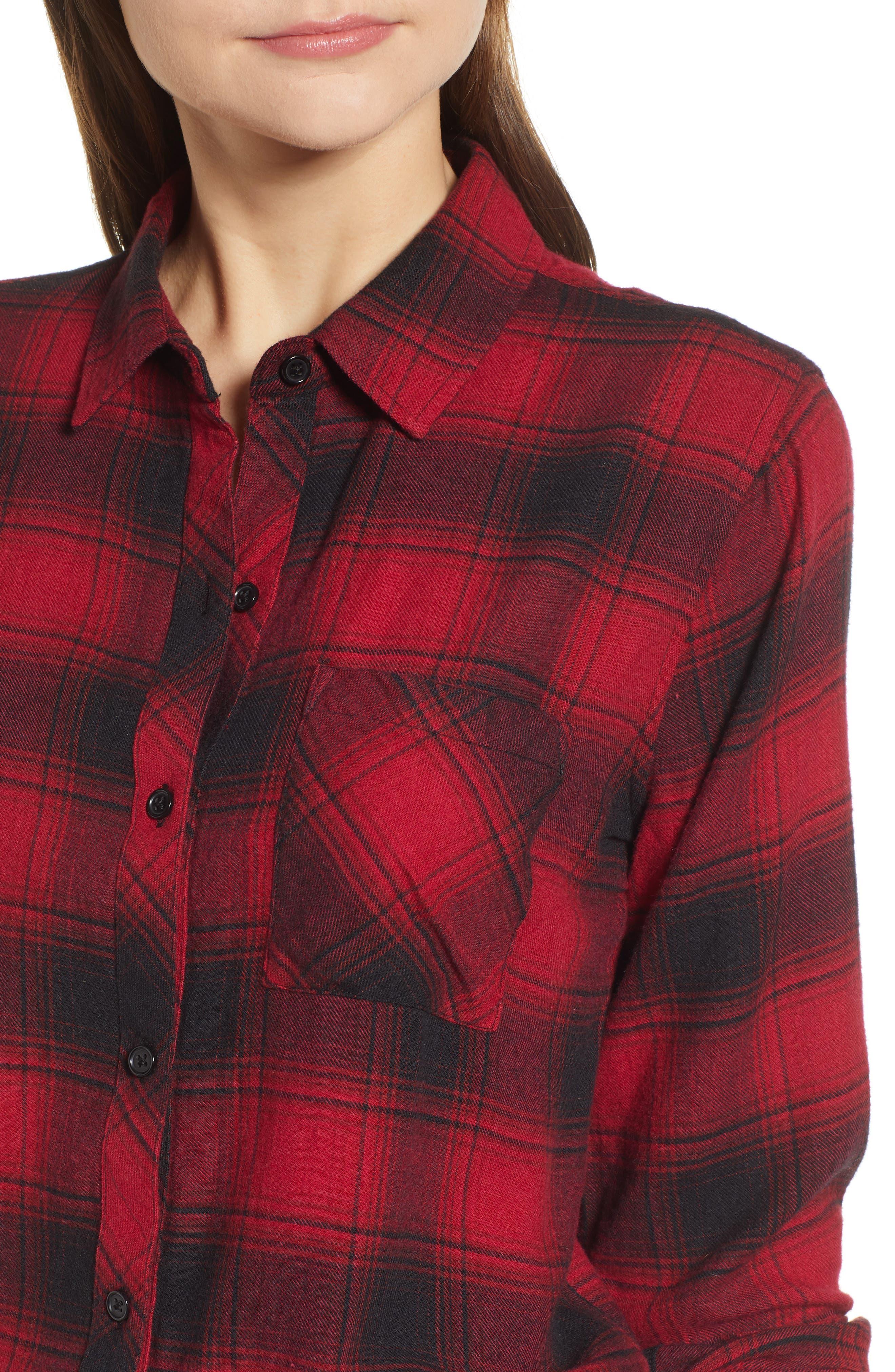 ,                             Hunter Plaid Shirt,                             Alternate thumbnail 220, color,                             011