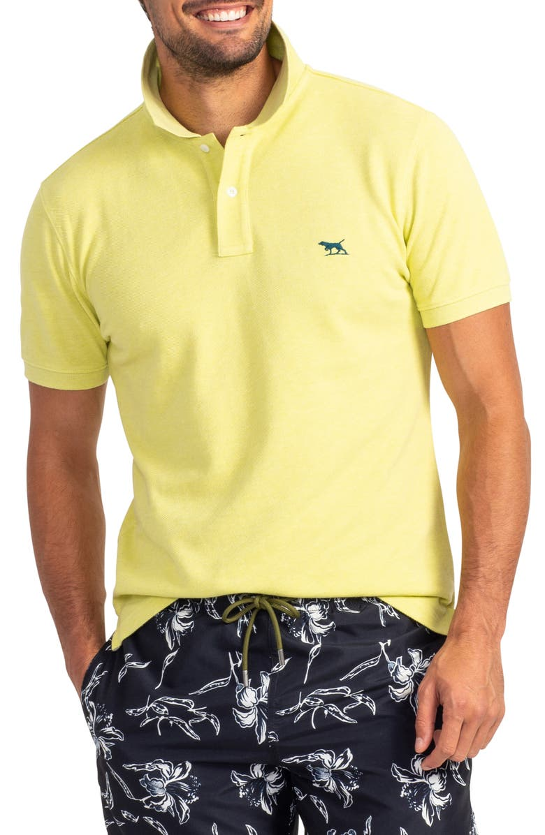 RODD & GUNN 'The Gunn' Piqué Sports Fit Cotton Polo, Main, color, LIMONCELLO