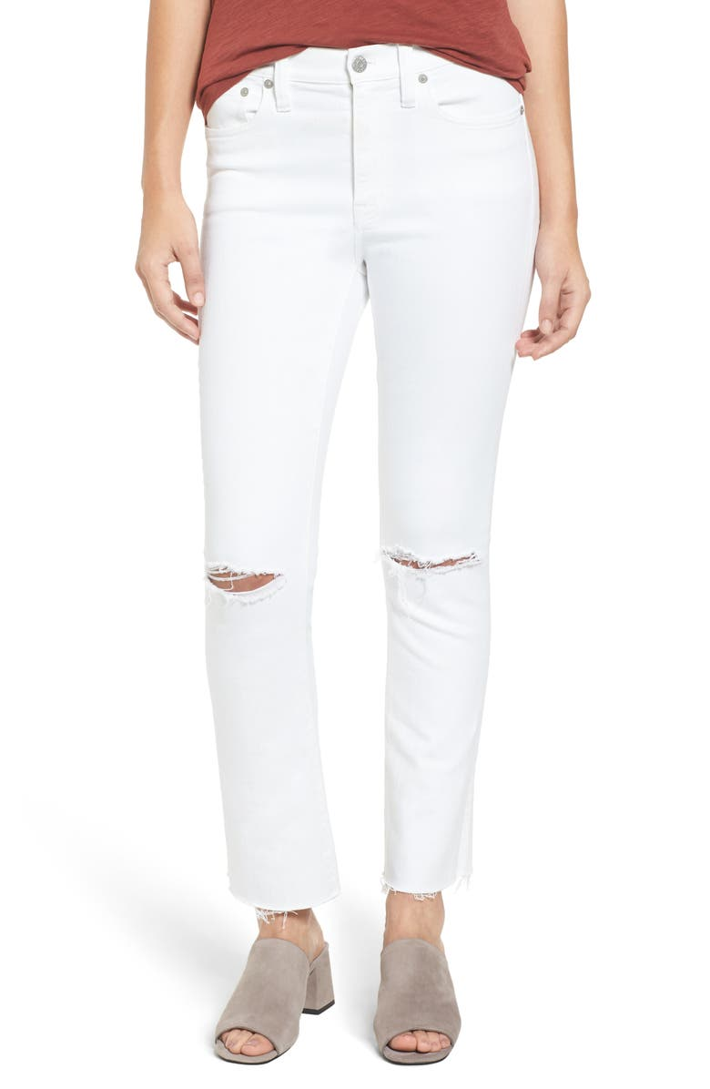 MADEWELL Cali Demi-Boot Jeans: Distressed Edition, Main, color, 100