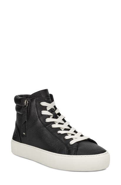 cec056fbe91 Ugg Olli High Top Sneaker in Black/ White Leather