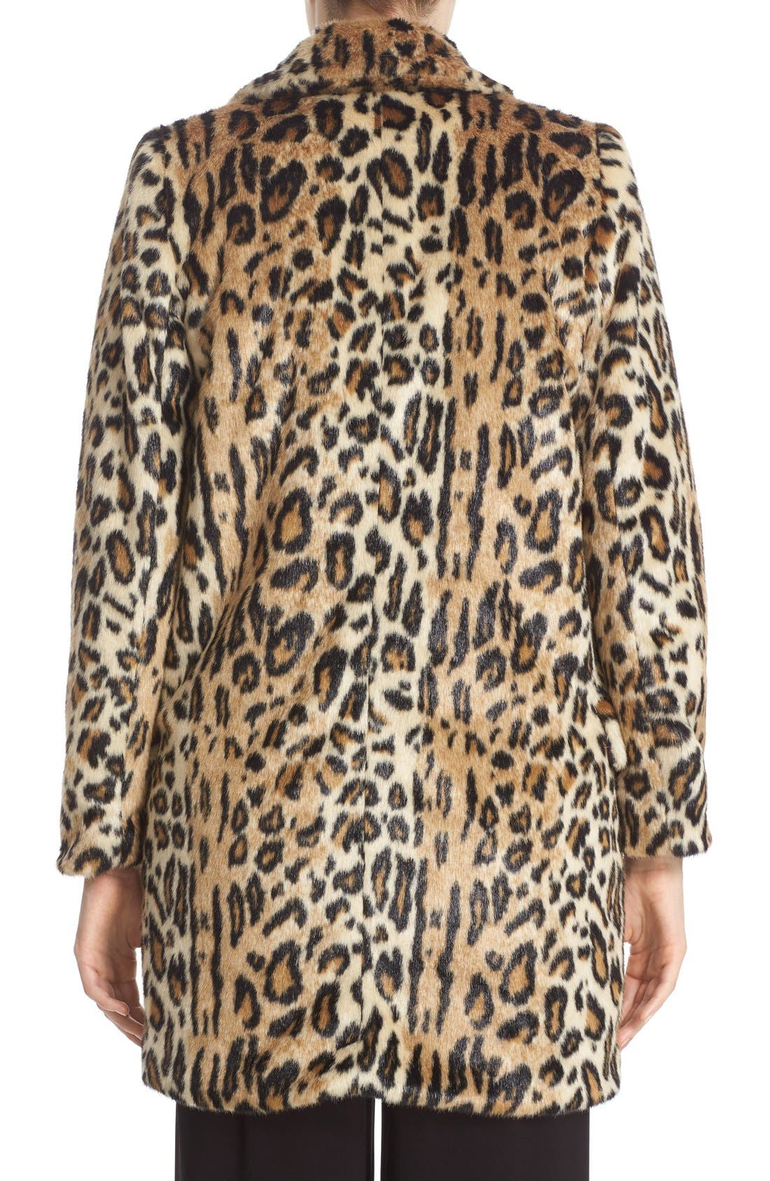 ,                             'Montana' Leopard Print Faux Fur Double Breasted Coat,                             Alternate thumbnail 2, color,                             219