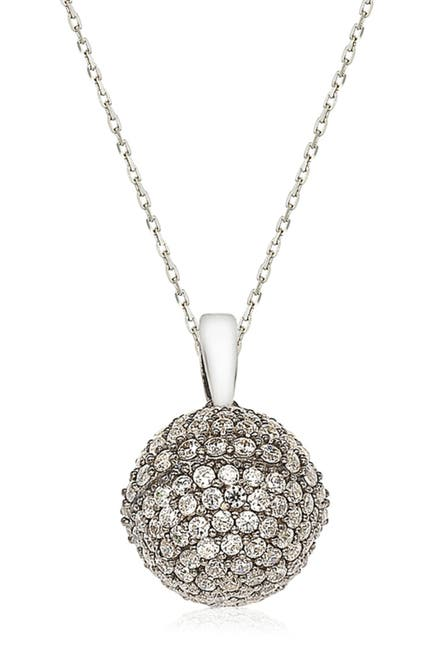 Image of Suzy Levian CZ Blackened Sterling Silver Disco Ball Pendant