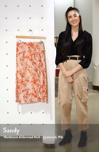 Floral Ruffle Slit Skirt, sales video thumbnail
