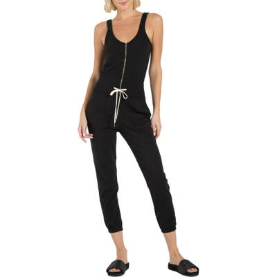 N:philanthropy Griffith Zip Jogger Jumpsuit, Black