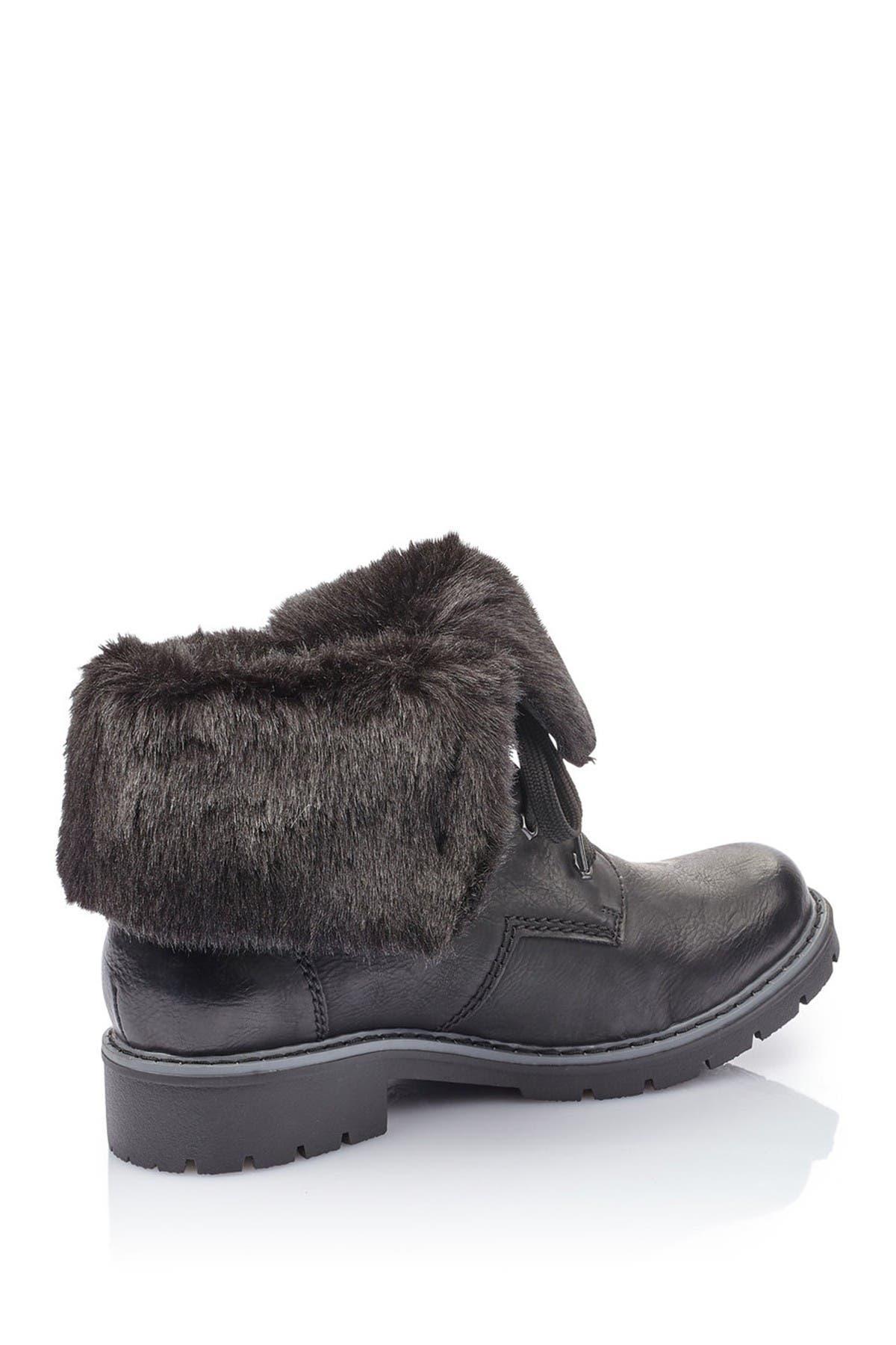 Image of Rieker Sabrina Genuine Lambs Wool Lined Boot