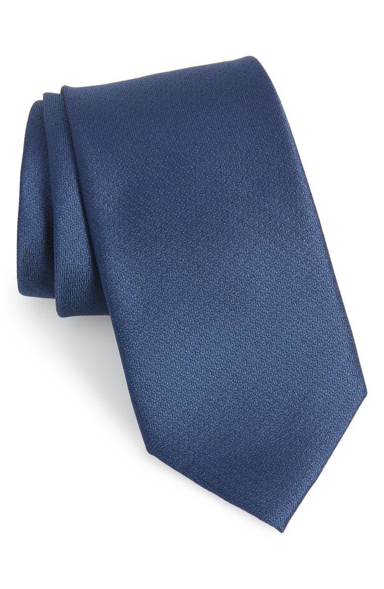 CALIBRATE Clara Solid Silk Tie, Main, color, 411