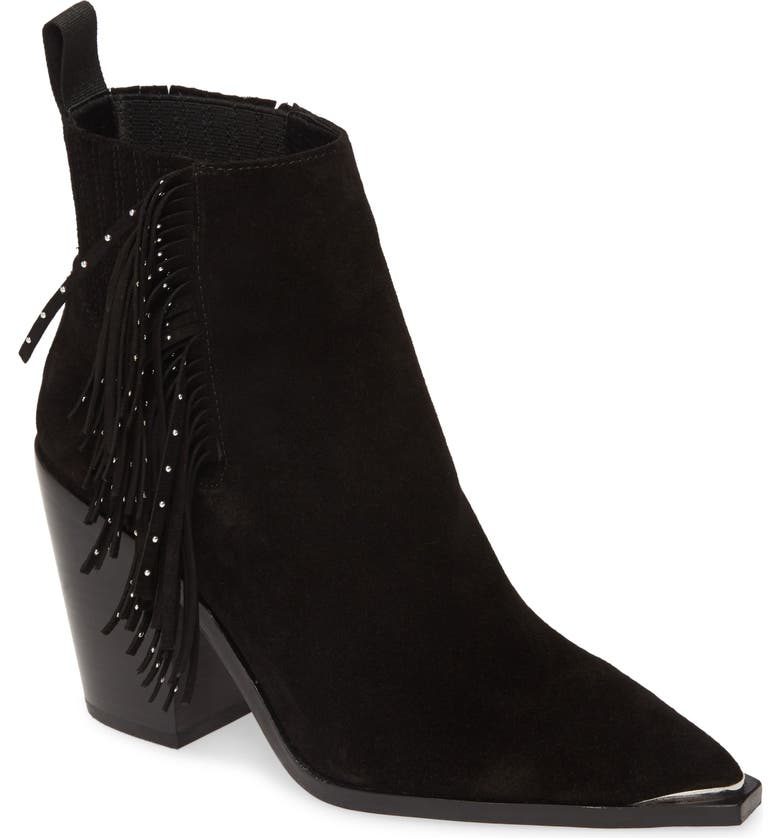 KENNETH COLE NEW YORK West Side Bootie, Main, color, BLACK SUEDE