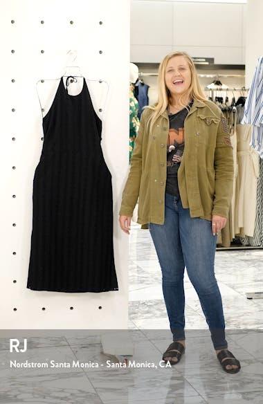 Rose at Ester's Eyelet Halter Midi Dress, sales video thumbnail