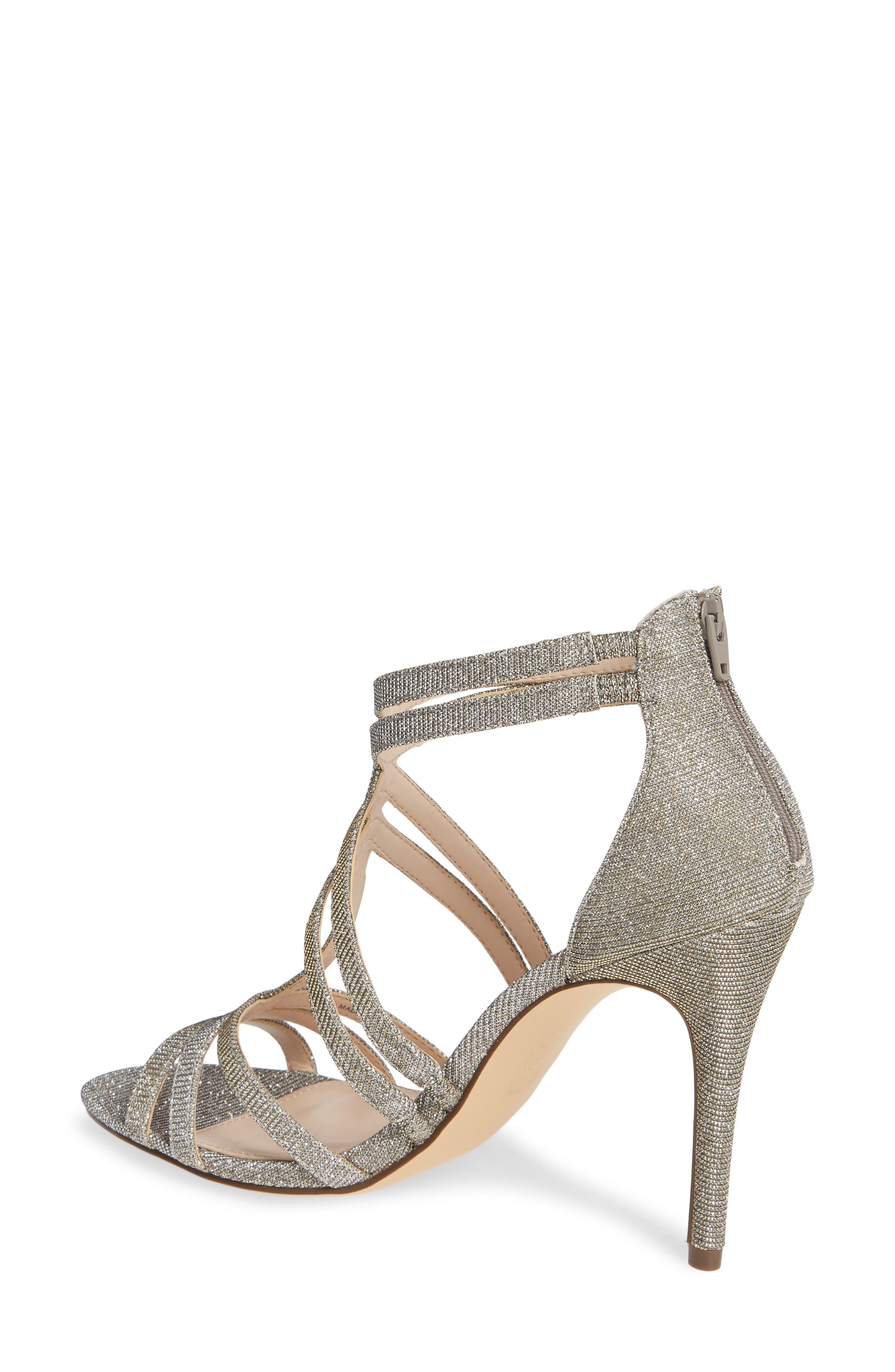,                             Carlie Ankle Strap Sandal,                             Alternate thumbnail 2, color,                             STEEL GLITTER FABRIC