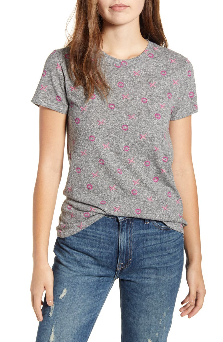LUCKY BRAND XOXO Valentine's Tee, Main, color, HEATHER GREY