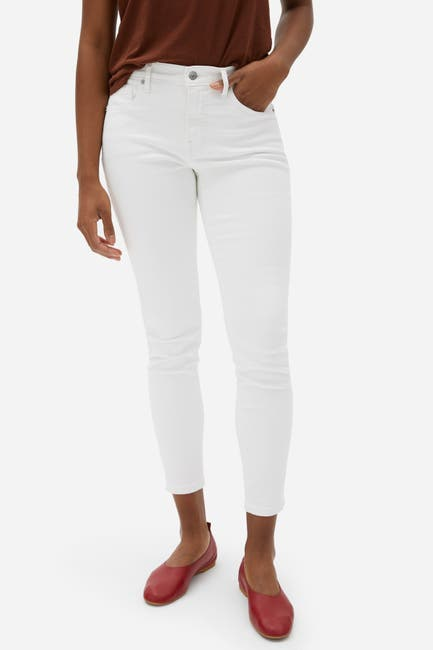 Image of EVERLANE The Authentic Stretch Mid Rise Skinny Crop Jeans
