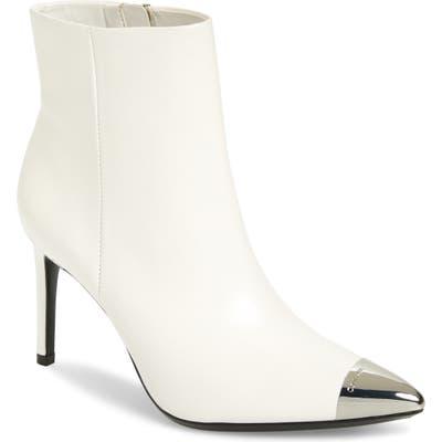 Calvin Klein Ravie Pointy Cap Toe Bootie, White
