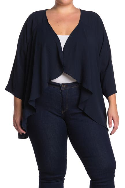 Image of Bobeau Solid Air Flow Cardigan