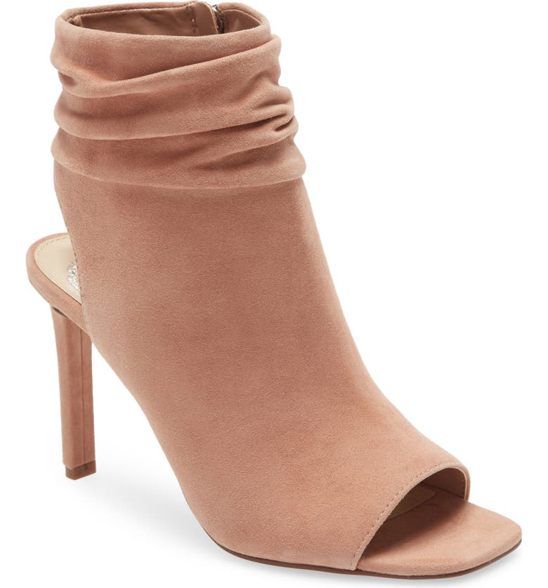 VINCE CAMUTO Leilani Peep Toe Bootie, Main, color, ROSE TAN