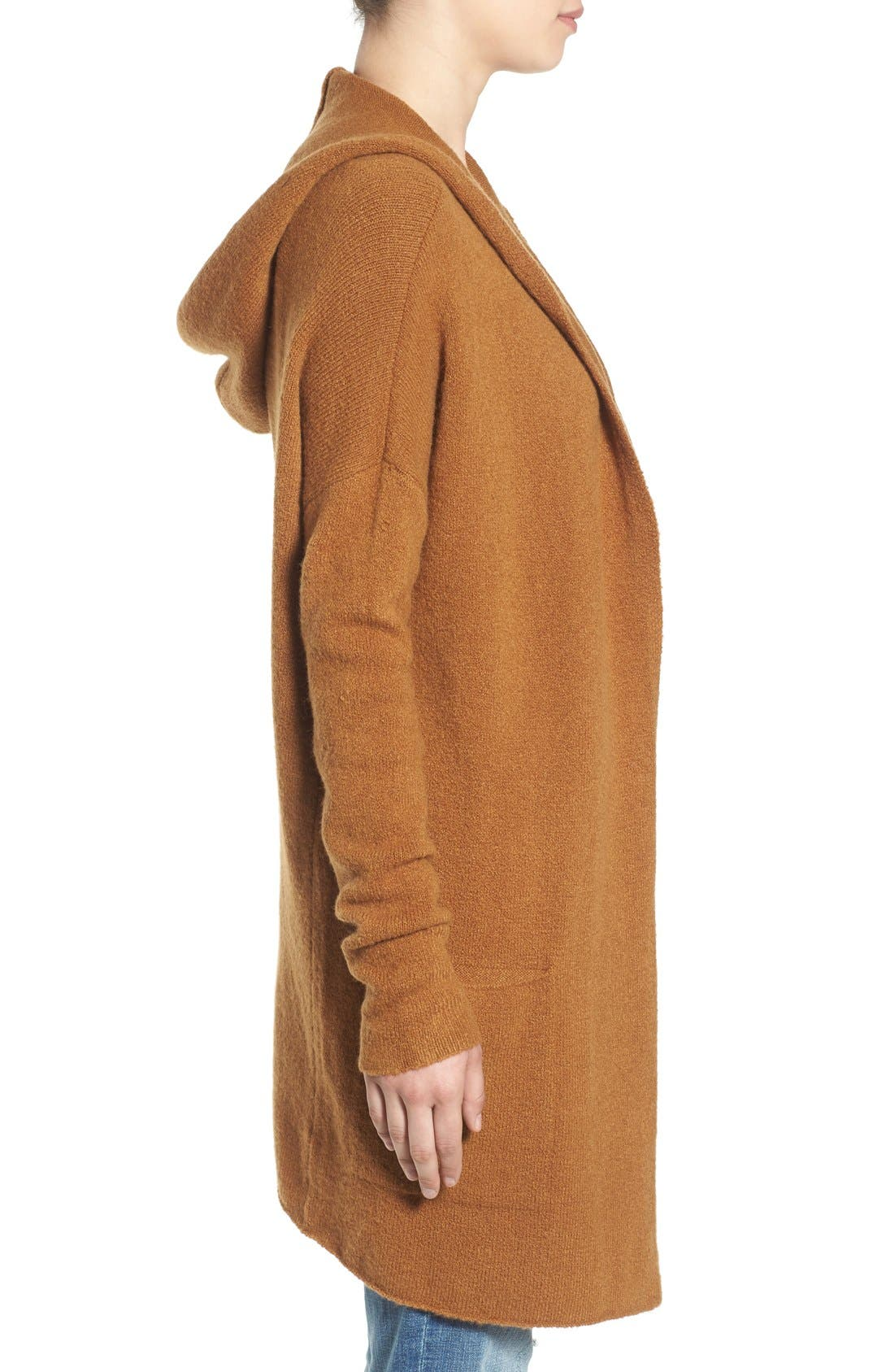,                             Hooded Longline Cardigan,                             Alternate thumbnail 9, color,                             236