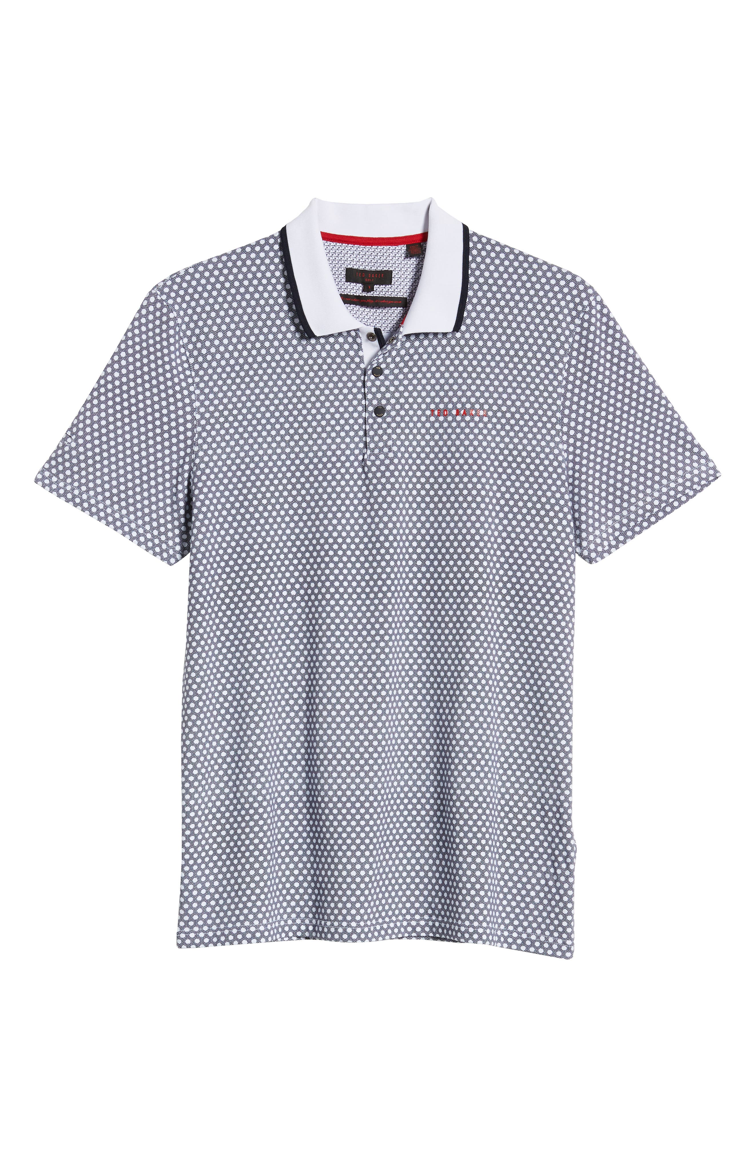 ,                             Hazelnut Slim Fit Golf Polo,                             Alternate thumbnail 6, color,                             NAVY