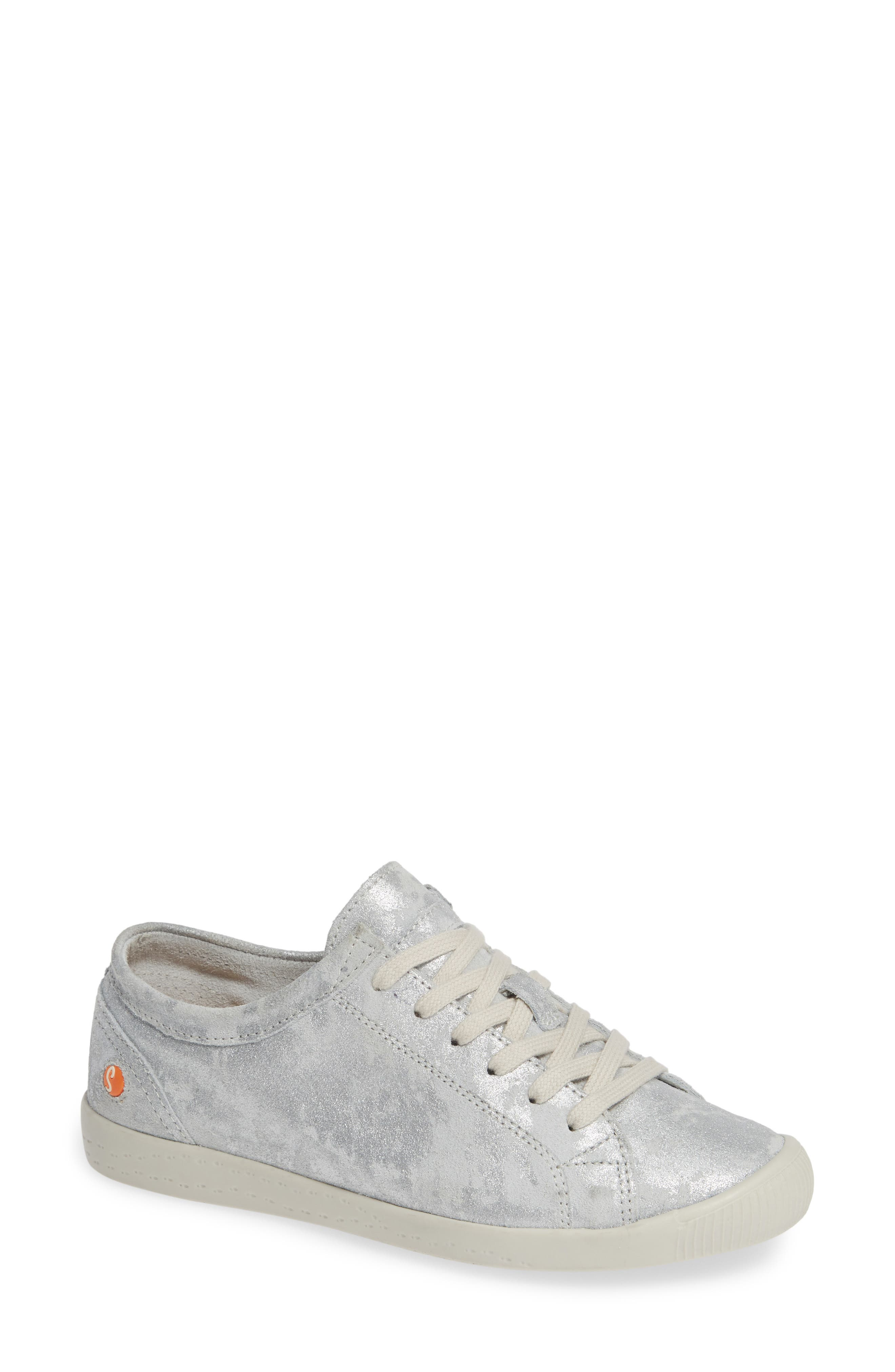 Softinos By Fly London Isla Distressed Sneaker, White