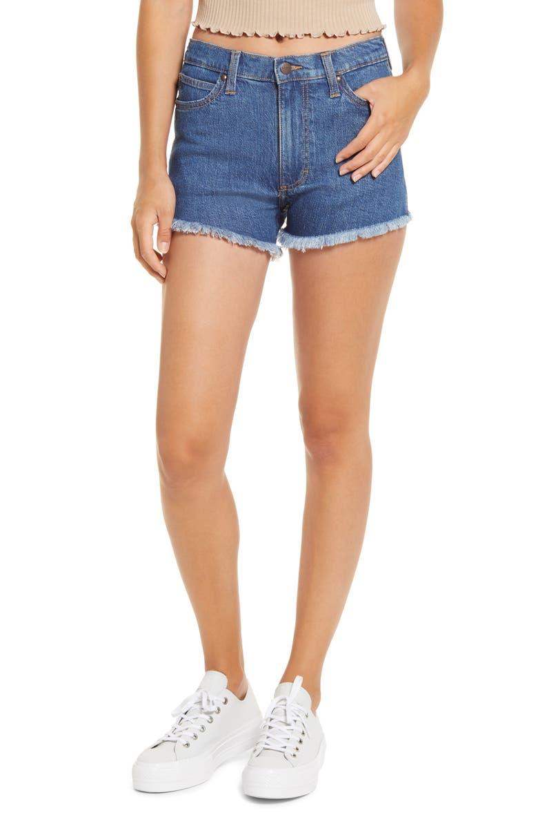 WRANGLER High Waist Cutoff Denim Shorts, Main, color, MARALYN