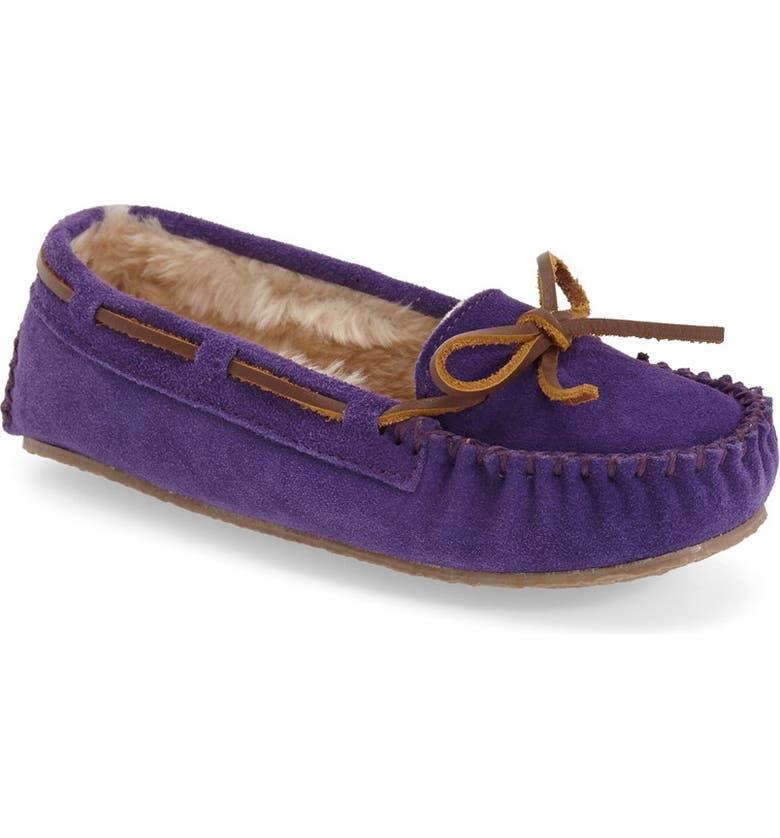 MINNETONKA 'Cassie' Slipper, Main, color, PURPLE