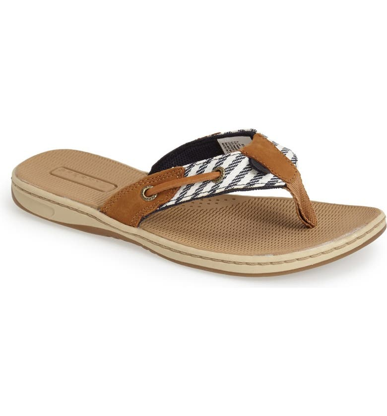SPERRY 'Seafish - Mariner Stripe' Flip Flop, Main, color, 410