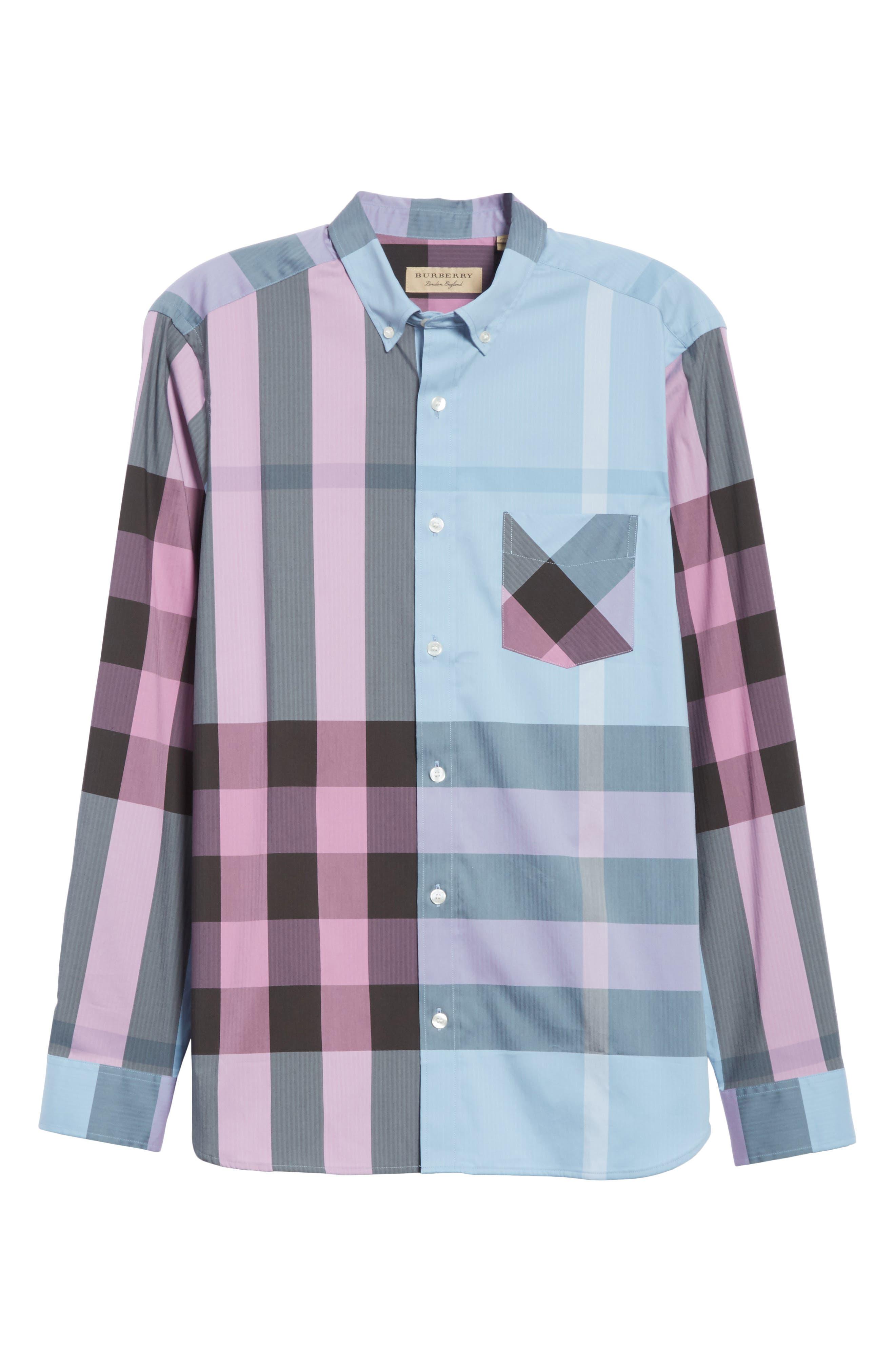 ,                             Thornaby Slim Fit Plaid Sport Shirt,                             Alternate thumbnail 17, color,                             405