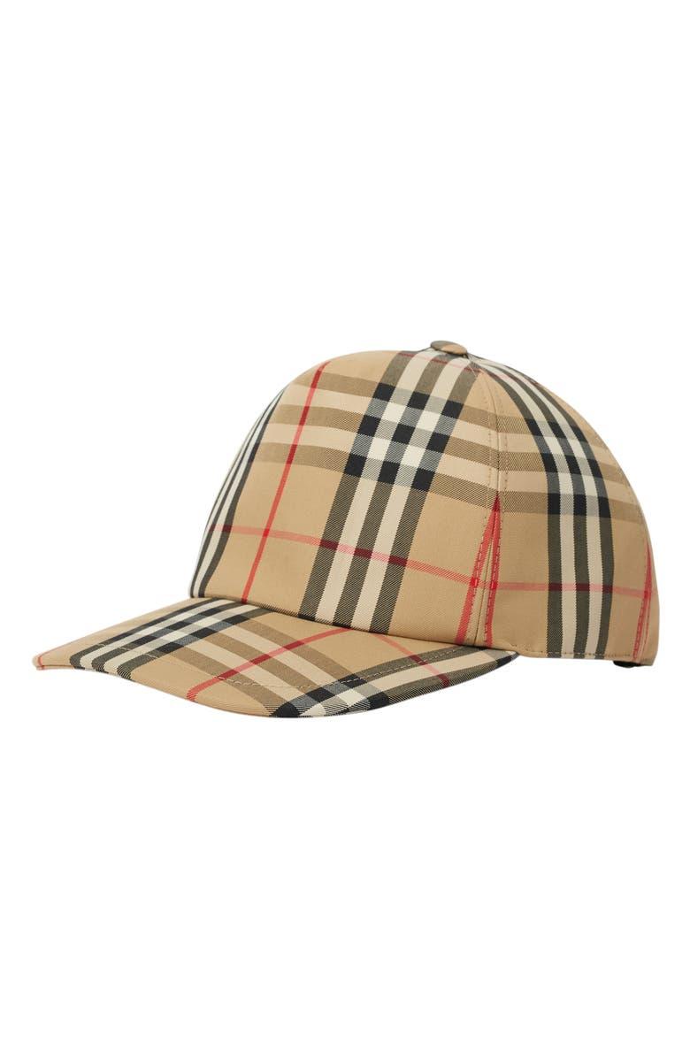 BURBERRY Vintage Check Baseball Cap, Main, color, ARCHIVE BEIGE