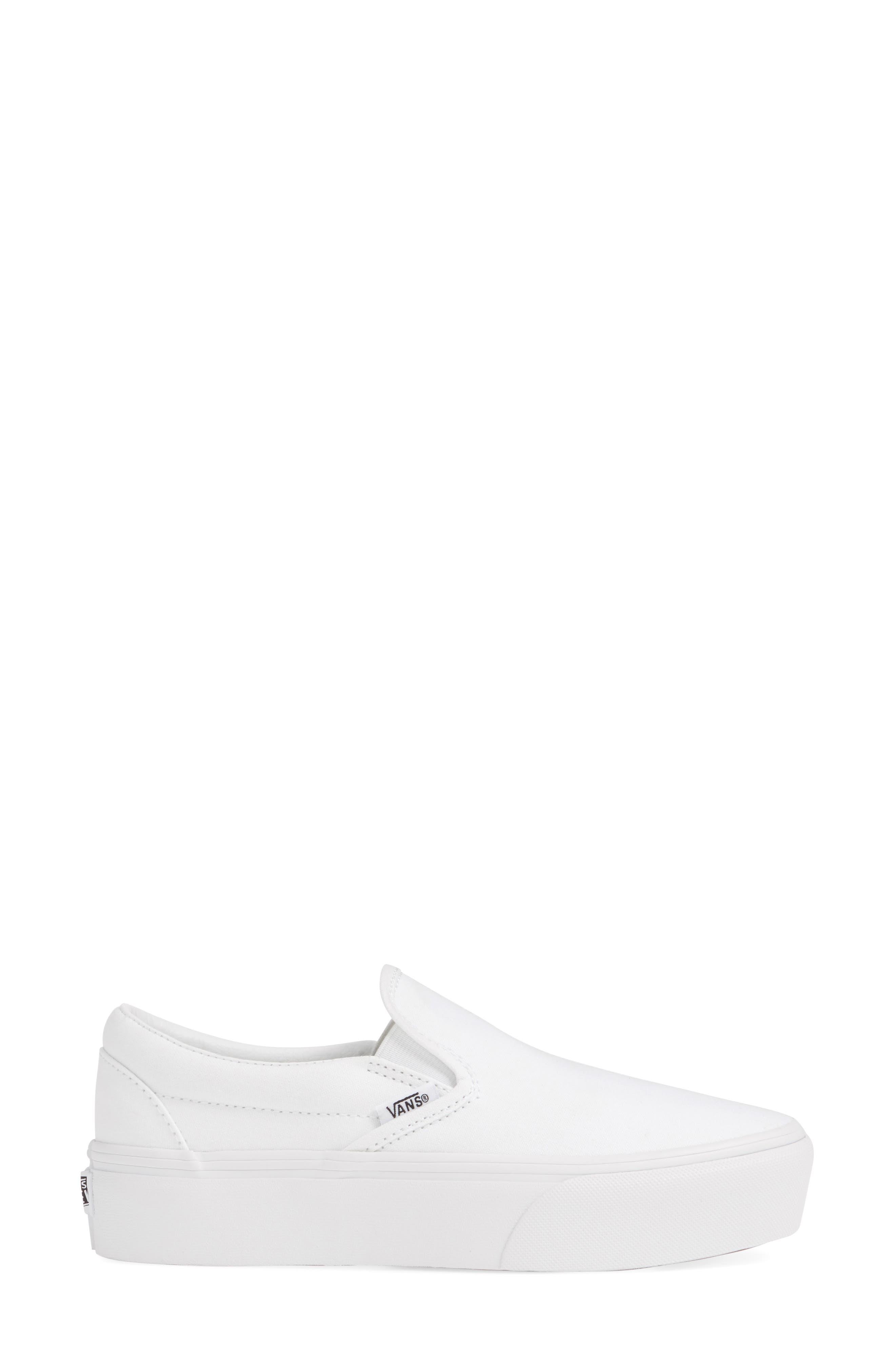 Platform Slip-On Sneaker, Alternate, color, TRUE WHITE