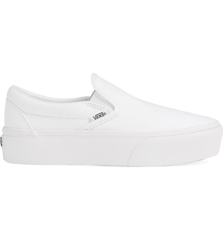 Platform Slip-On Sneaker, Alternate, color, TRUE WHITE