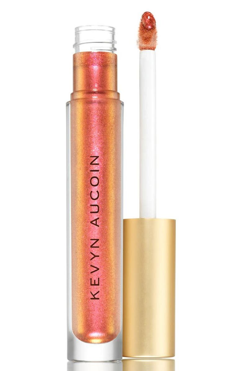 KEVYN AUCOIN BEAUTY Liquid Lip Molten Metals, Main, color, FIRE AMBER