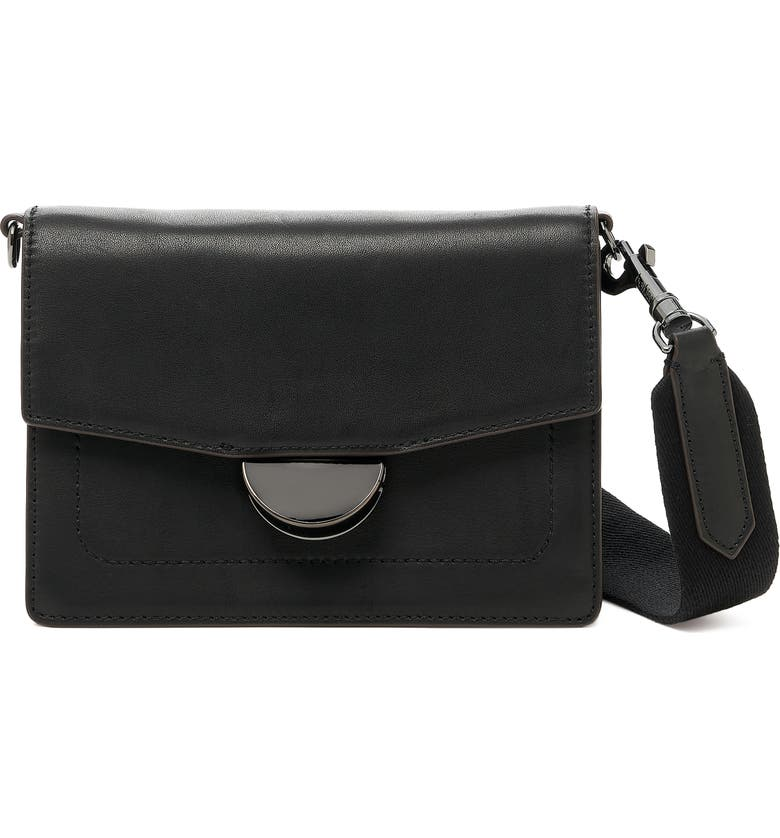 BOTKIER Astor Leather Crossbody Bag, Main, color, BLACK