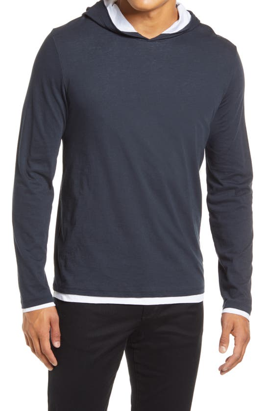 Vince Cottons DOUBLE LAYER HOODIE