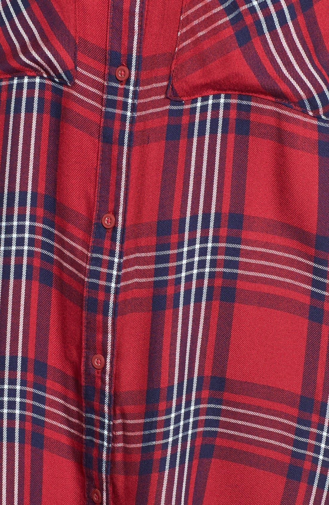 ,                             Plaid Tunic Shirt,                             Alternate thumbnail 33, color,                             601