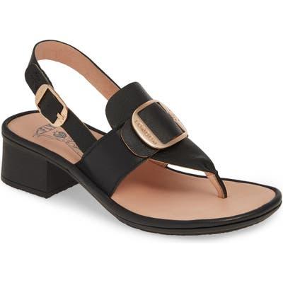 Fly London Emat Thong Sandal, Black