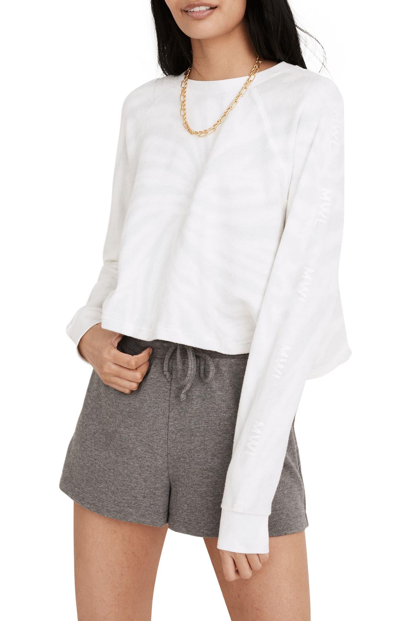 Tie Dye Crop Terry Sweatshirt