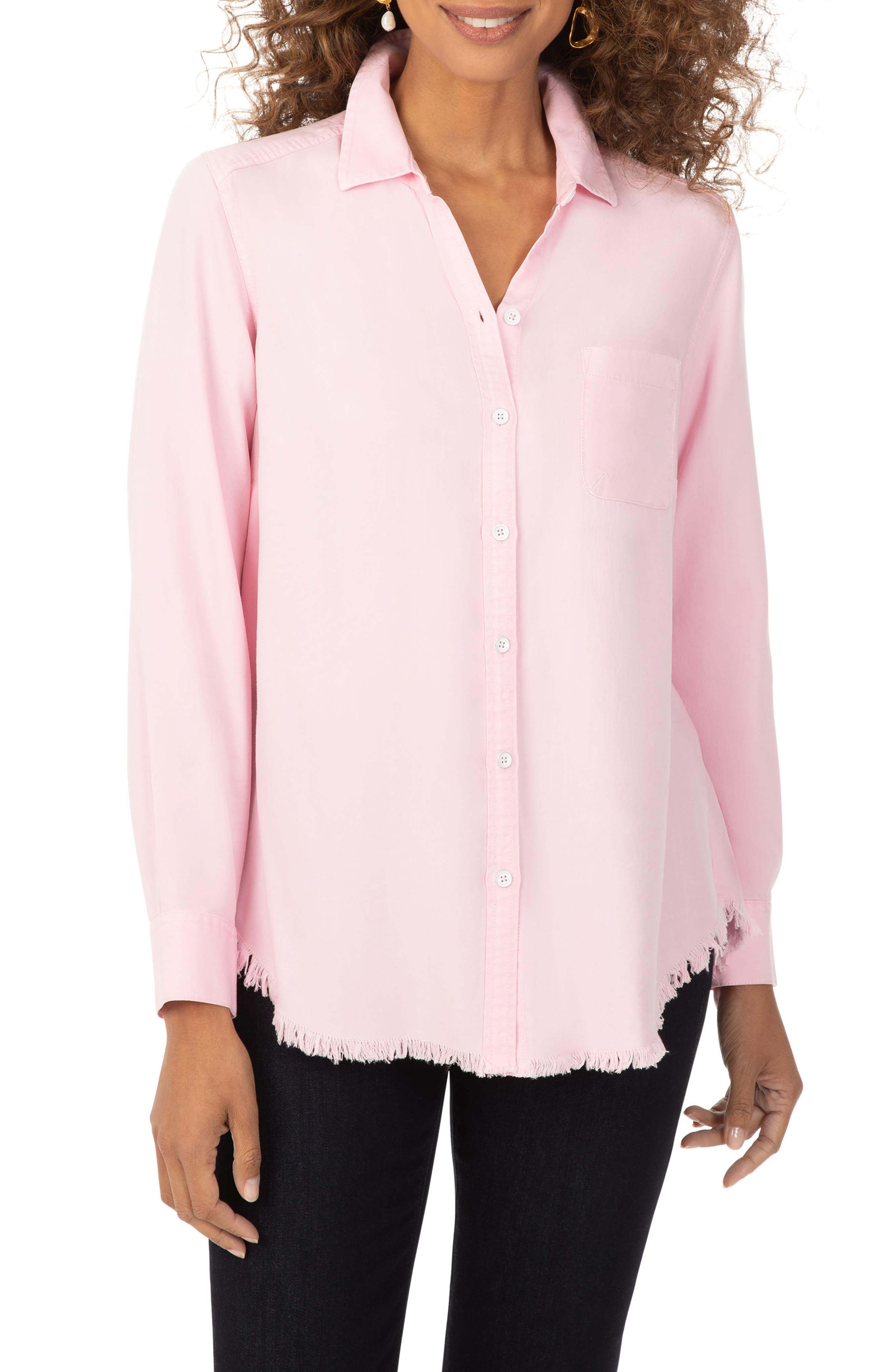 Haven Frayed Hem High/low Button-Up Shirt