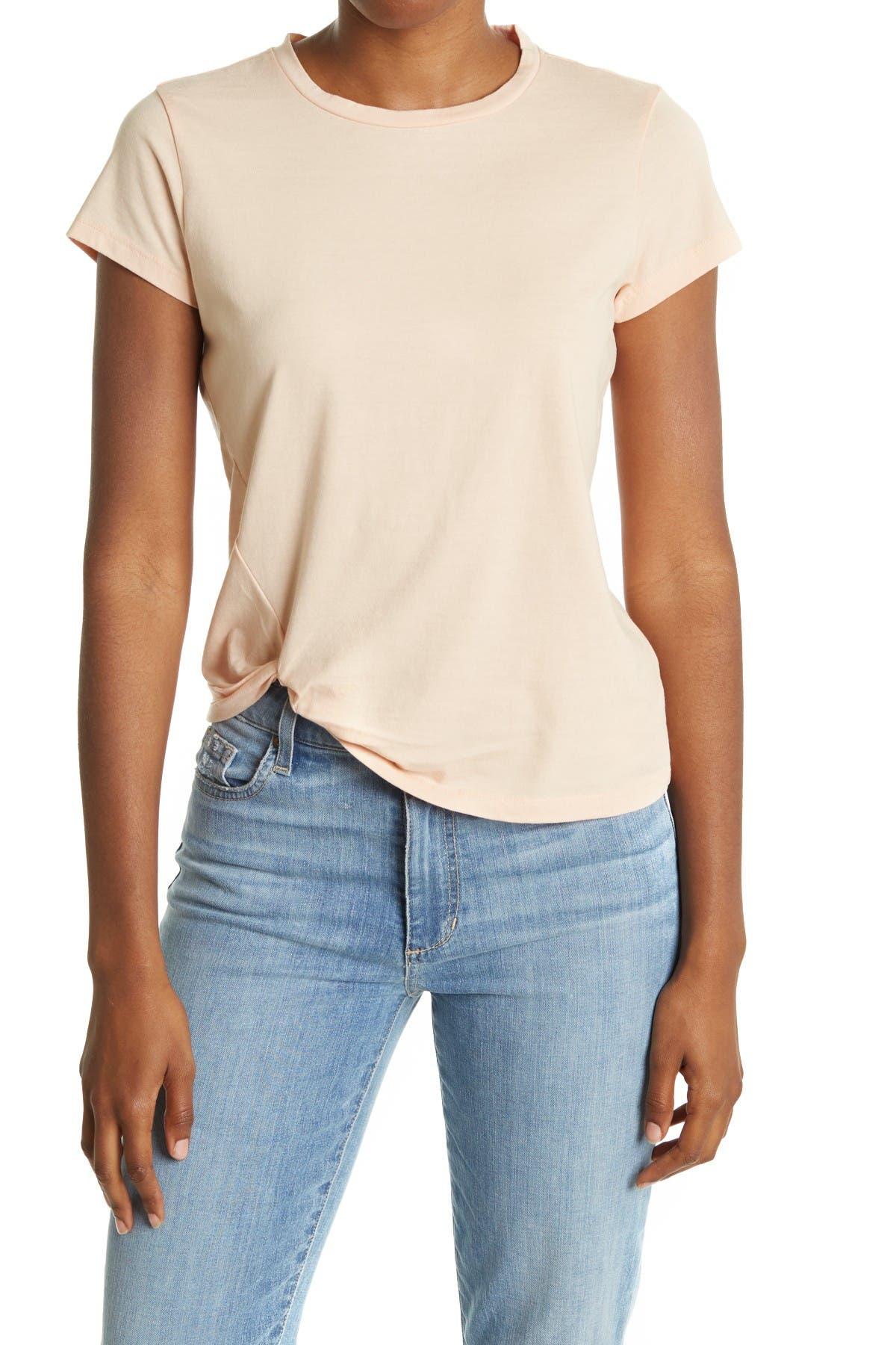 Image of ALLSAINTS Mellon Twisted Hem T-Shirt